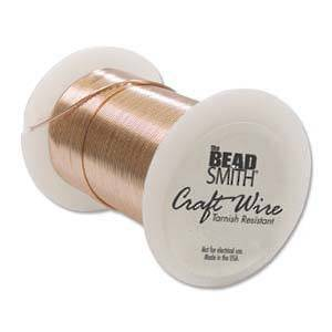 BACK! Craft Wire, Copper Colour: 18 gauge