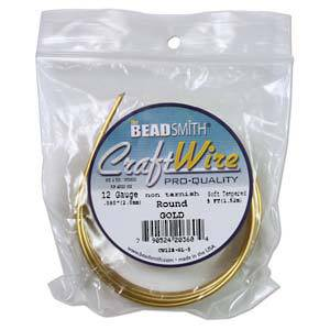 Craft Wire, Gold Colour: 12 gauge