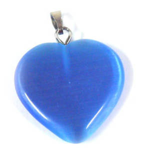 22mm Fibre Optic Heart: Royal Blue (darker than pic, same as donut)