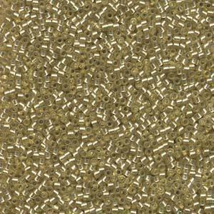 Delica, colour 686 - Jonquil, semi matte, silver lined