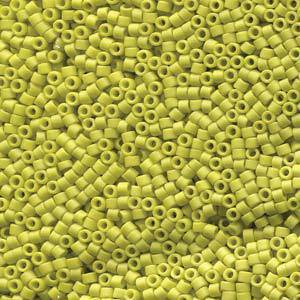 Delica, colour 2283 - Frosted Opaque Glaze Yellow