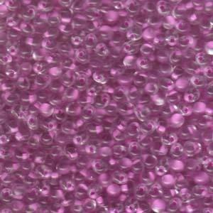 Miyuki Drop,  Lilac Lined Crystal