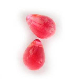 Tear Drop, 6mm x 9mm: Bright Pink