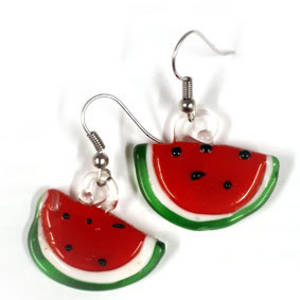 Earrings: Watermelon Slices