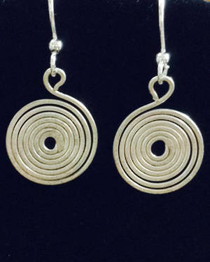 EARRINGS: Silver Spirals