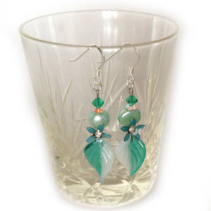 Europa Earrings: Teal