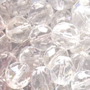 Czech Firepolished Facet: 10mm - Crystal Clear