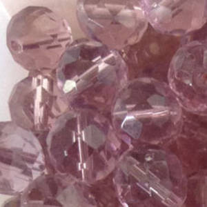 Czech Firepolished Facet: 12mm - Light Amethyst