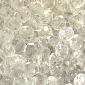 Czech Firepolished Facet: 6mm - Crystal Clear