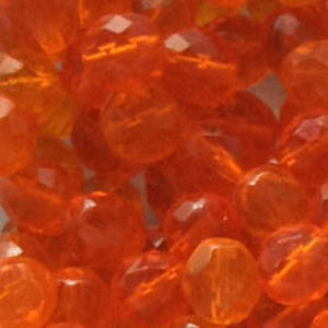 Czech Firepolished Facet: 8mm - Orange