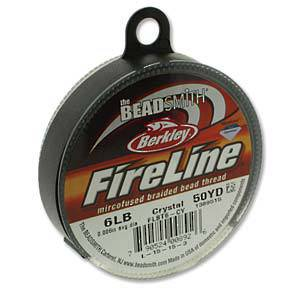 OUT OF STOCK 6lb Fireline, 50 yard spool: CRYSTAL CLEAR