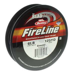OUT OF STOCK 6lb Fireline, 125 yard spool: SMOKE GREY