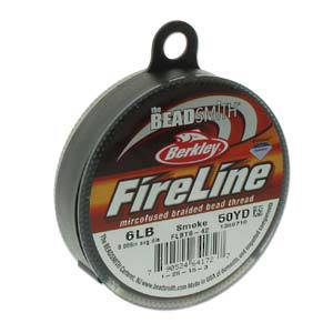 OUT OF STOCK 6lb Fireline, 50 yard spool: SMOKE GREY