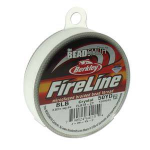 8lb Fireline, 50 yard spool: CRYSTAL CLEAR