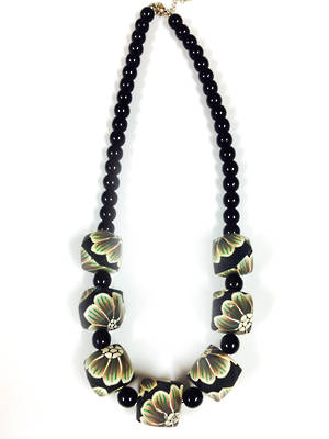 Fimo Necklace: Corporate Rose
