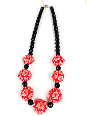 Fimo Necklace: Red and Black
