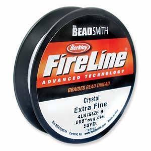 4lb Fireline, 50 yard spool: CRYSTAL CLEAR