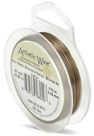 OUT OF STOCK Artistic Wire: 28 gauge, Gunmetal/Bronze a Canon