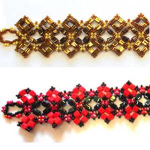 Project: Mosaic Bracelet, Miyuki Square version