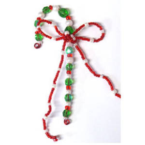 KITSET:  Beaded Candy Cane, brights