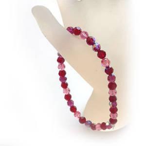 KITSET: Swarovski Crystal Bracelet - Pinks & Reds
