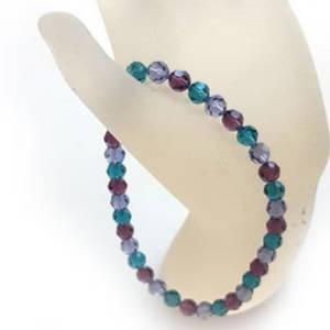 KITSET: Swarovski Crystal Bracelet - Purples & Indicolite