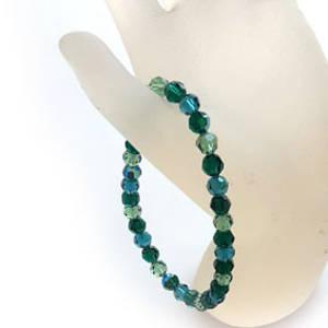 KITSET: Swarovski Crystal Bracelet - Emeraldo
