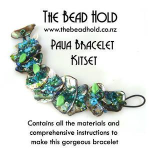KITSET: Paua Bracelet - aqua/green, medium pieces