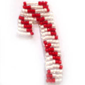 KITSET: Seed Bead Candy Cane