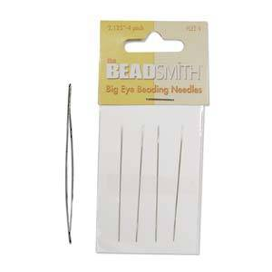 BeadSmith Big Eye Needles 5.5cm  - 4 Pack