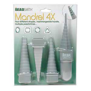BeadSmith Mandrel Set, acrylic, 4 shapes