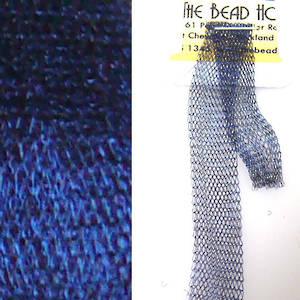 Italian Metallic Mesh Ribbon, Dark Blue