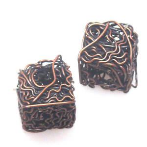 Metal Bead, 'steelo' like cube