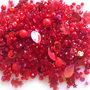 Large Acrylic Mix: Red