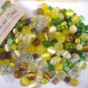 Fibre Optic MIX: Yellow/Green/Brown