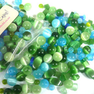 Fibre Optic MIX: Aqua/Green