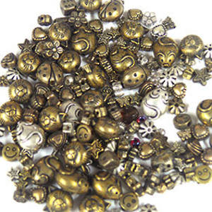 Acrylic Mix: metallised golds
