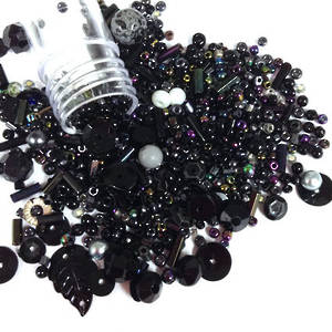 Seed Bead Mix, 15gm - MIDNIGHT