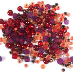 Seed Bead Mix, 15 grams - RUBY RED SHOES