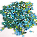 Seed Bead Mix, 15 grams - TURQUOISE GREEN