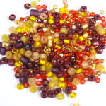 Seed Bead Mix, 15 grams - YELLOW BROWN