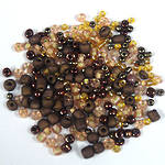 Seed Bead Mix, 15 grams - BRONZED