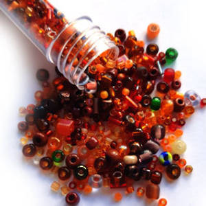 NEW! Seed Bead Mix, 15gm - BURNT ORANGE