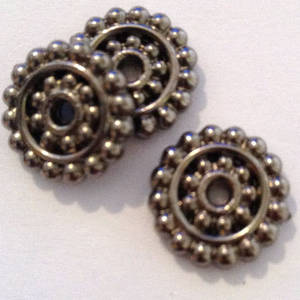Acrylic Spacer: wheel like dot disc - gunmetal