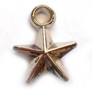 Acrylic Charm: Star - silver
