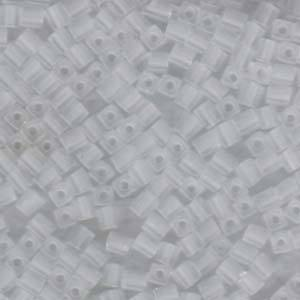 4mm Miyuki Square: 131F - Frosted Clear