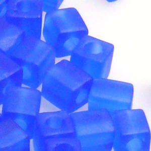 4mm Miyuki Square: 150F - Sapphire, frosted
