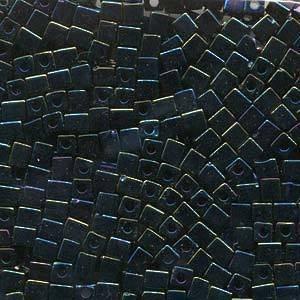 4mm Miyuki Square: 452 - Metallic Blue Iris