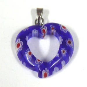 20mm Mosaic Heart: Blues
