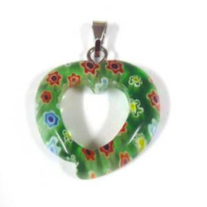 20mm Mosaic Heart: Greens